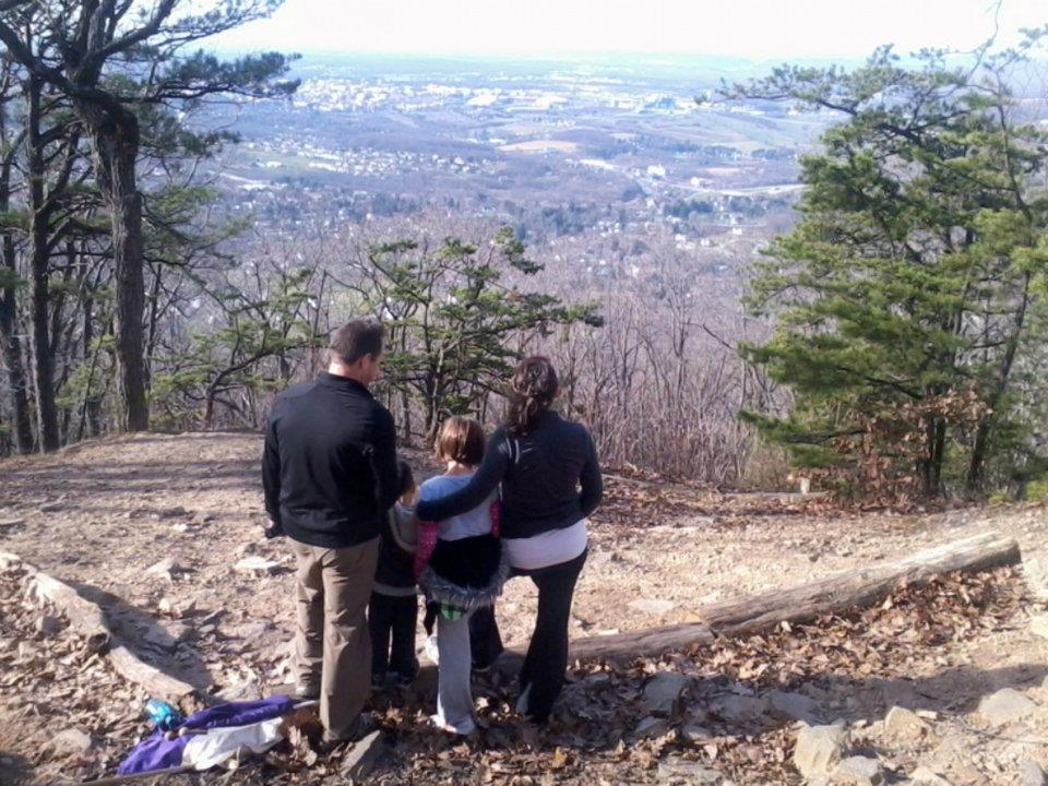 praying on Mount Nittany